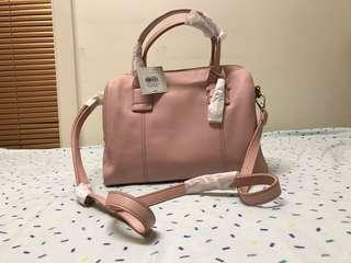 Pink Fossil Satchel