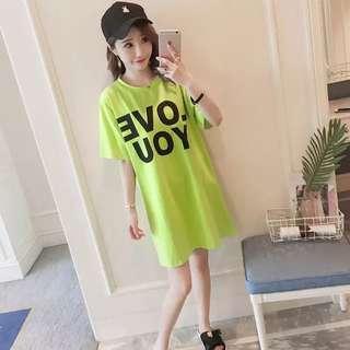 Love you Green Dress