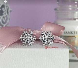 Pandora Snowflakes Earrings