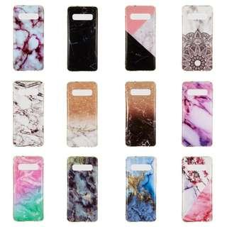 Brand New Instocks Ready Stocks 12 Designs Silicon Silicone Marble Galaxy Soft Case Casing Sleeve for Samsung Galaxy S10, S10 Lite & S10 Plus