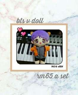 BTS v doll  set with clothes