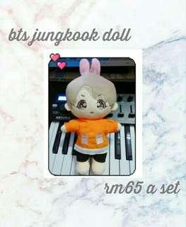 BTS jungkook doll set with clothes