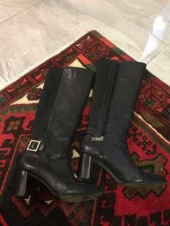 Tory burch knee leather boots