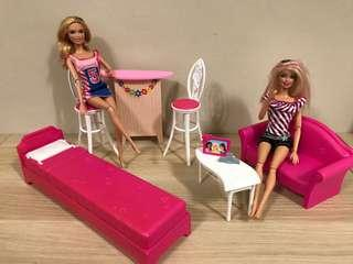 Barbie Glam Vacation House 美泰兒芭比配件傢俱