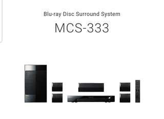 Pioneer MCS-333 5.1 Blu Ray Channel Media Centre System with Satellite Speaker