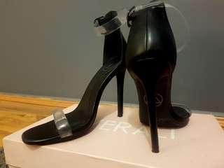 Prettylittlething Clear Strap Heels