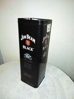 Jim Beam Black empty tin box.