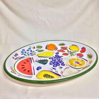Handpainted serving platter