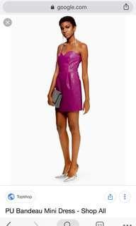 BNWT Topshop Bandeau pu dress
