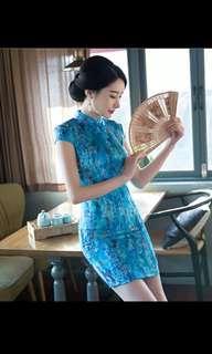BN Cheongsam Qipao - Premium Blue