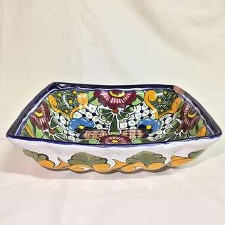 Handpainted serving bowl