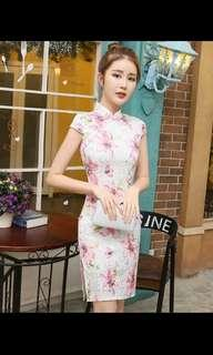 BN Cheongsam Dress - Sweet Pink