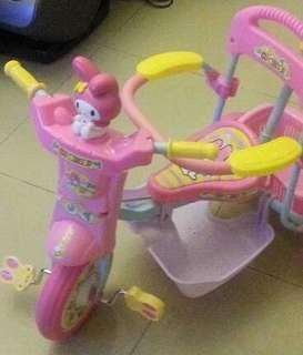 Sario My melody 兒童三輪車 單車 唔新但運作正常  Kitty