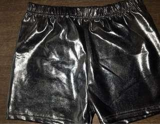 Slick Black Hot Pants