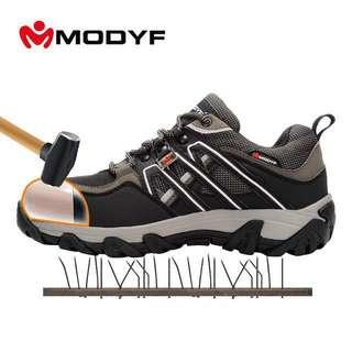 Modyf 2018 NEW Men Safety Work Shoes Steel Toe Boots Breathable Hiking Boots Multifunction Protection Footwear
