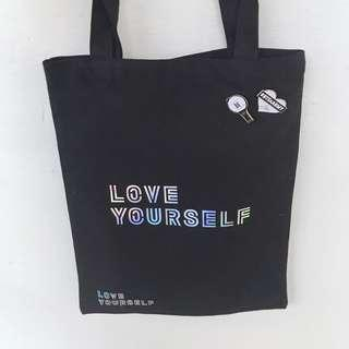 ❣️TOMORROW❣️ BTS LOVE YOURSELF HOLOGRAPHIC TOTE BAG