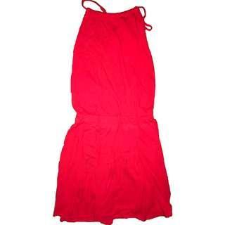 Lacoste Lowback Tie Up Dress
