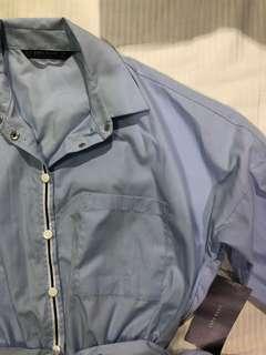 Zara 3/4 Sleeve Button Down Romper