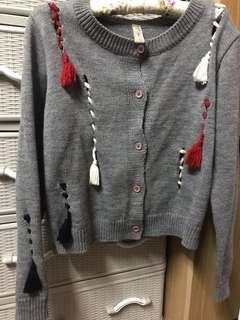 Sweater 韓國製🇰🇷 流蘇冷外套