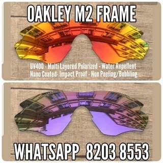 Oakley M2 M Frame replacement lenses available for Gascan Jawbreaker Photochromic Radar EV Path Juliet Garage Rock FrogSkins Jupiter Holbrook