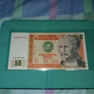 1987 秘魯50英迪