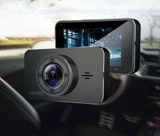 """Wifi Dual-Lens 3"""" IPS Screen Dashcam Car Recorder [Features:MSTAR 1296P Full-HD Resolution, Ultra Wide-Angle, Wifi Front and Back Car Camera, GPS Speed Navigation, Gravity-Sensor, WDR, Support:64GB Memory] 7-STAR* Wifi Front and Back Car Camera"""