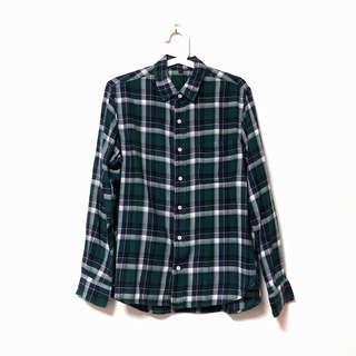 Green Flannel Plaid Shirt