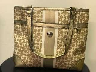Authentic Coach Canvas Tote Bag