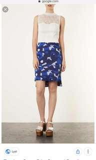 Preloved Topshop camo Print skirt