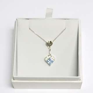 包順豐櫃 Sugar品牌 頸鏈 用法國藍色Swarovski閃石施華諾水晶石製作 心型 石純銀頸項 全新有盒