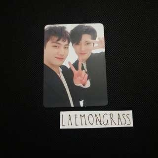 nu'est baekho & ren w.here unit photocard