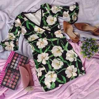 Sexy Floral Body Fitting Dress