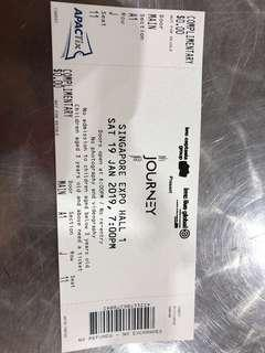 Angela Zhang Shao Han concert ticket