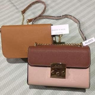 Bundle Charles and Keith/ Aldo Sling Brown