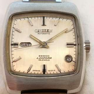 CITIZEN LEOPARD HI-BEAT 28800 Automatic Watch (日本星辰 LEOPARD 28800 高頻自動錶)