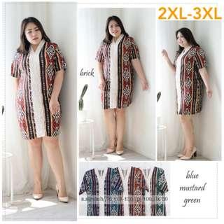 Dress Batik Jumbo Stretch XXL XXXL