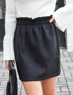 Bershka Black Paperbag Skirt