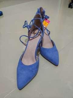 🎇❴超爽價❵ 100%全新 海洋藍Katie Judith名牌高跟鞋