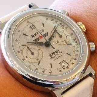 POLJOT Manual Winding Chronograph Watch (POLJOT 手上鍊計時機械手錶)