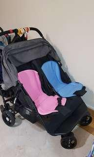 [Pre-Owned] Double twin stroller