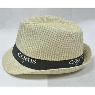 包順豐櫃 時尚型格男款草帽 Straw hat 頭圍 Size: 58cm 黑邊白字 全新