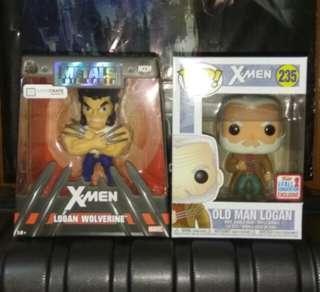 (ON HAND) Wolverine Logan LootCrate Jada Metals & Old Man Logan X-Men Marvel Funko Pop Bundle