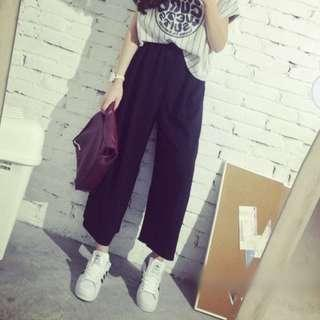 Cropped Wide Pants