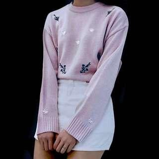 Letty Pastel Floral Sweater