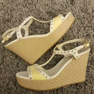 Charles and Keith White Wedges