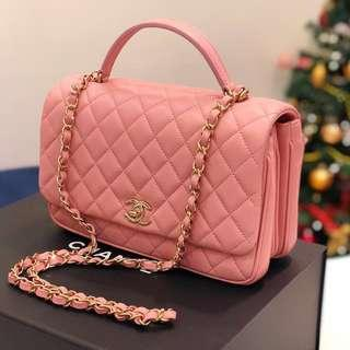 💕Rare Find!💕 Chanel Citizen Chic Small Flap in Pink Lambskin LGHW