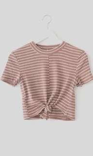 Pale Pink Striped Top