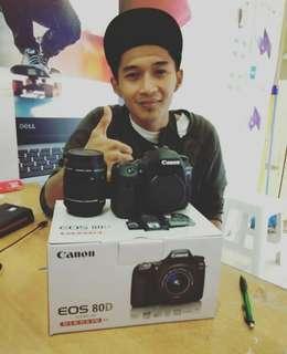 Canon Eos 80D kit18-55,Kredit Kamera Murah tanpa CC diMacronic