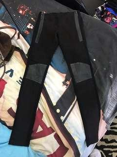 """Repriced!! """"Bardot"""" suede & leather leggings"""