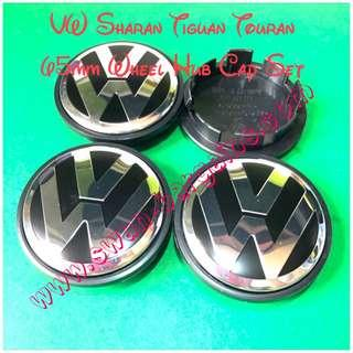 Volkswagen 4pcs VW Black Emblem Logo Badge Sports Wheel Rim Center Hub Cap 65mm Diameter Tiguan Sharan Touran Factory Rim Cover Set